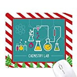 Chemical Reaction Tool Chemistry Mouse Pad Candy Cane Rubber Pad Christmas Mat