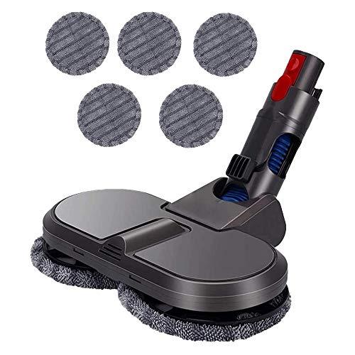 Camisin Cabezal de fregona eléctrica para aspiradora inalámbrica V11 V10 V8 V7, accesorio de suelo húmedo y seco, doble uso