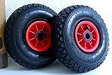 D&F - Set da 2 ruote pneumatiche 3.00-4, con boccola 2PR, dimensioni 260 x 85 mm, ricambio...