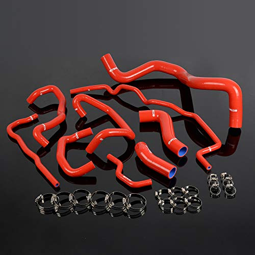 Silicone Radiator Coolant Hose Kit Clamps For VW Golf Mk4 1.8T Turbo 1999 2000 2001 2002 2003 2004 2005 2006 Red