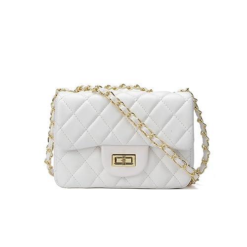 347dc57c8 Small Gold Chain Quilted Shoulder Bag Mini Cross Body Women Handbag Clutch  Classic Evening Bag (