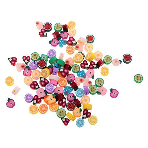 MagiDeal 100pz Perline Beads Frutta Diy per Creazione Gioielli Bracciale Collane