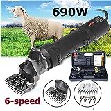 Sinbide - Tosapecore Elettrico Professionale, 690 W, per Lana di Pecore, montoni e capre … (Nero)