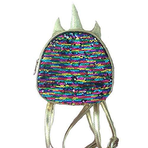 FORLADY - Borsa sportiva con paillettes, con zaino paillettes, colore: Taglia unica