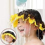 Baby Badekappe Verstellbare Duschvisierkappe, weiches Silikon Duschhaube Shampooschutz Hüte, Badeshampoo Shield Sonnenschutz Kappe Visier für 0 bis 6 Kleinkinder, Kinder