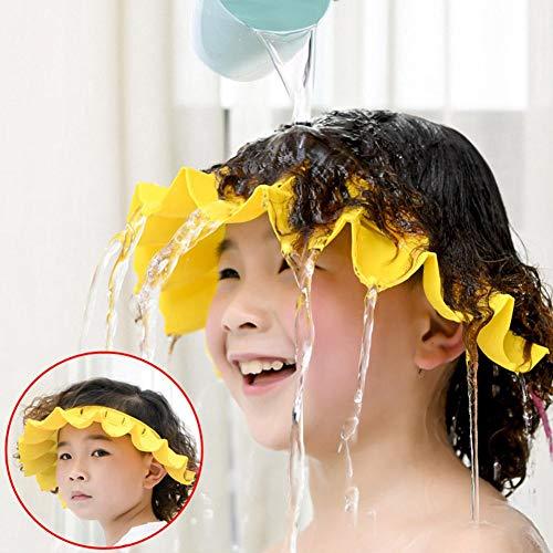 Gorro de baño para bebé, gorra de ducha ajustable, de silicona suave, para proteger sombreros, champú, protector de baño, visera para niños y niños de 0 a 6 años