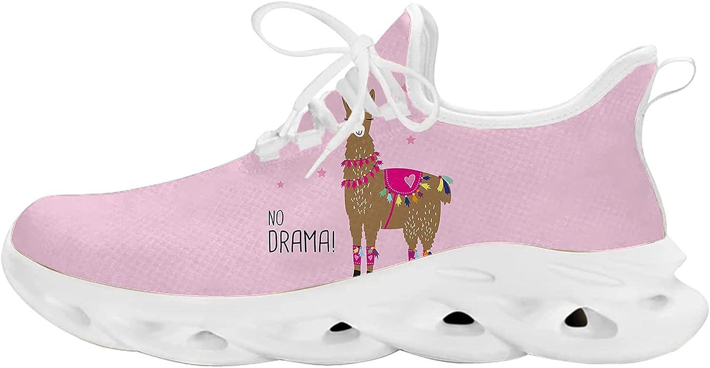 Elegant No Drama Llama Unisex Adult Athletic Walking Blade Running Tennis Shoes Fashion Sneakers