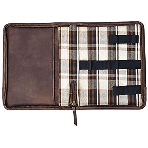 """51z+YpHY6SL. SS300  - Gusti Leder studio""""Crane"""" Funda de Cuero Carpeta Estuche Documentos Tablet 7,9 Organizador Personal Bloc Cuaderno Lápices 2S28-26-3"""