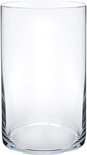 """wholesale Flower Glass Vase Decorative Centerpiece for Home or Wedding by Royal Imports sale - Cylinder Shape, 6"""" Tall, 3.5"""" Opening, discount Clear outlet sale"""