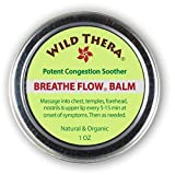 Wild Thera Breathe Flow Balm for Sinus Relief and Congestion. Natural Sinus Medicine for Blocked...