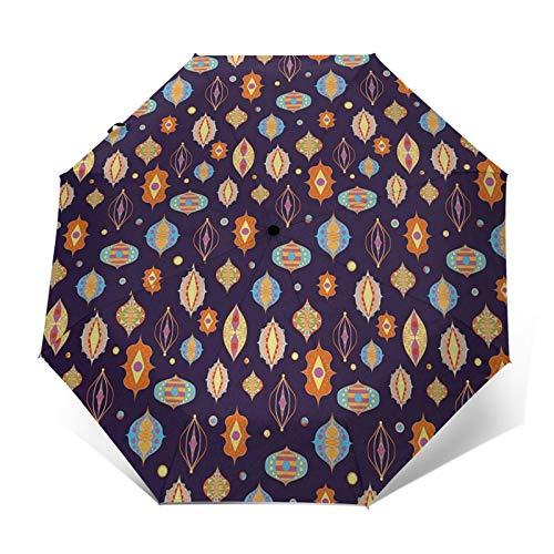 Regenschirm Taschenschirm Kompakter Falt-Regenschirm, Winddichter, Auf-Zu-Automatik, Verstärktes Dach, Ergonomischer Griff, Schirm-Tasche, Laterne 28