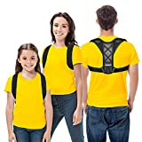 Posture Corrector, Linkevp Back Support Brace for Men Women and Kids, Adjustable Brace Correction, High...