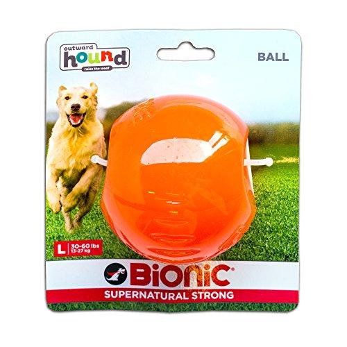BIONIC BALL Hundespielzeug zum Kauen und Werfen, Large, Durchmesser ca. 7,5 cm