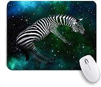 ECOMAOMI 可愛いマウスパッド スペースゼブラ 滑り止めゴムバッキングマウスパッドノートブックコンピュータマウスマット