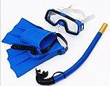 saflyse infantil de buceo (Gafas de buceo +–Set de esnórquel + taucherflossen) schnorchelset Tauchset, azul