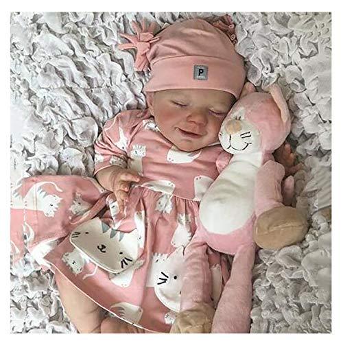 Bias&Belief Muecas Reborn,20 Pulgadasrealista Vinilo de Silicona Suave Hecho A Mano Reborn Toddler Babies,para Edad 3+,Boy