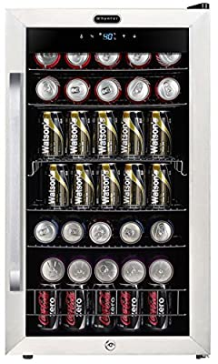Whynter BR-1211DS Freestanding 121 Can Digital Control and Internal Fan, Stainless Steel Beverage Refrigerator, One Size