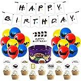 Fuentes de la fiesta de cumpleaños de Friends TV Show, Decoraciones de fiesta temática de amigos con Banner de feliz cumpleaños, Globos de cumpleaños, Cupcake Toppers