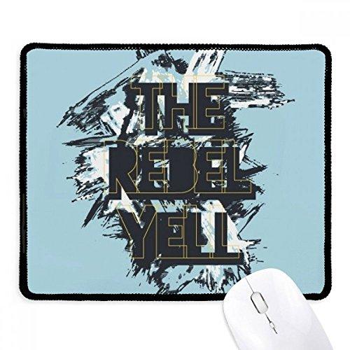 Mouse pad Graffiti Street The Rebel Yell com borda costurada e borracha para jogos