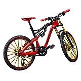 Ganquer 1:10 aleación de zinc libre de pie decoración del hogar juguete para niños simulan el modelo de bicicleta de caballo, Mini bicicleta de montaña, modelo de bicicleta de dedo para colecciones