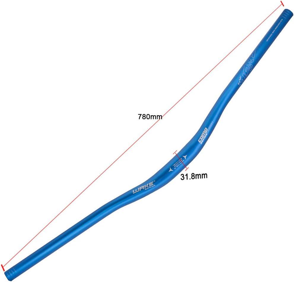 Manillares de bicicleta de monta/ña Manillares de bicicleta Speed Dirt XC//DH ligeros Manillares de bicicleta Riser Bar Extra Largo 31.8mm 720mm//780mm Material de aleaci/ón de aluminio,Azul,31.8mm*720mm