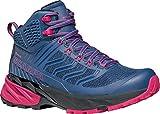 Scarpa Rush Mid GTX WMN, Zapatillas de Trail Running Mujer, Blue-Fuxia Gore-Tex SHCM Free Dome, 39.5 EU