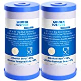 GOLDEN ICEPURE 5 Micron 10' x 4.5' Whole House Big Blue Sediment Activated...