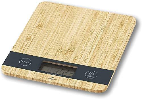 Lacor 61712 Bilancia Bamboo, 21'8x18'8x2'1 cm, Acciaio 18/10