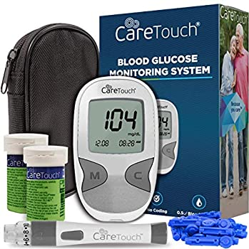 Care Touch Diabetes Testing Kit – Care Touch Blood Glucose Meter 100 Blood Test Strips 1 Lancing Device 30 gauge Lancets - 100 count and Carrying Case