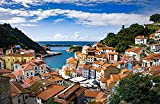 Puzzle 1000 Piezas para Adultos España Cudillero Asturias Roof Bay Houses Puzzle de Madera Serie de Puzzles temáticos, Apto para familias, Juegos educativos 75X50Cm (1000 pcs)