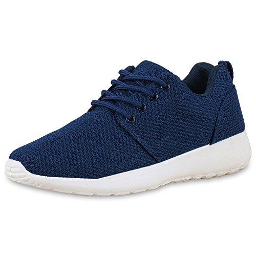 SCARPE VITA Damen Sportschuhe Laufschuhe Runners Sneakers Schuhe 165340 Dunkelblau 39