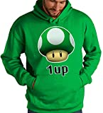 Mx Games Sudadera Super Mario Bros con el diseño 1 Up Verde (S)