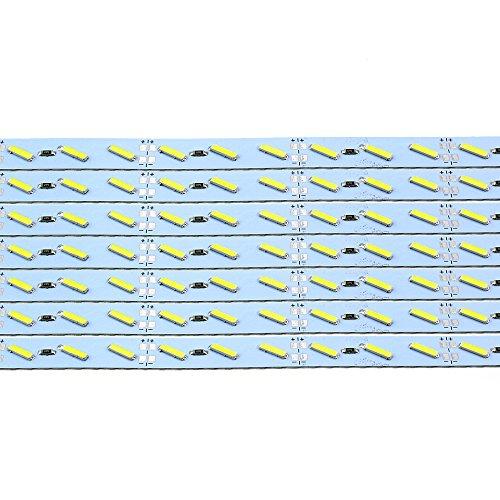 50 cm SMD8520 tira rígida LED de barra de luz rígida, DC12 V, doble chip para debajo del armario de cocina (paquete de 10) – blanco cálido