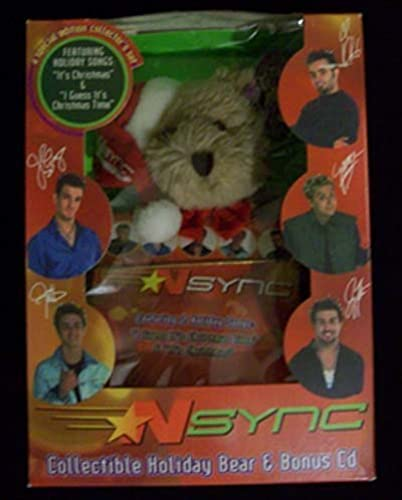 Nsync Collectible Holiday Bear and Bonus CD by Tasteful Additions, Inc.