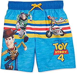 Disney Pixar Woody and Buzz Lightyear Swim Trunks for Boys - Toy Story 4 (12 Months) Blue