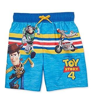 Disney Pixar Woody and Buzz Lightyear Swim Trunks for Boys - Toy Story 4  12 Months  Blue