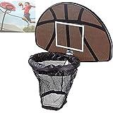 ZYQDRZ Trampolin-Basketballkorb Und Backboard-Set Trampolinzubehör, Tragbares...