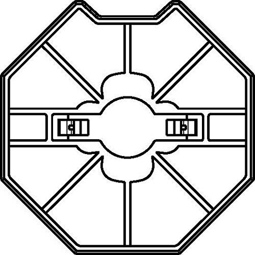 Rademacher Adapter-Mitnehmerset für Achtkantstahlwelle SW70, Medium Intelligente Rohrmotoren, 93700738