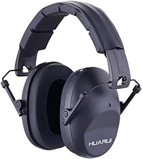 NoiseCancellingEarMuffs for Shooting Hunting, Adjustable Shooting Ear Muffs,Shooters Ear Protection Safety Ear Muffs, Lightweight Ear Muffs Noise Protection HUARUI (Black)