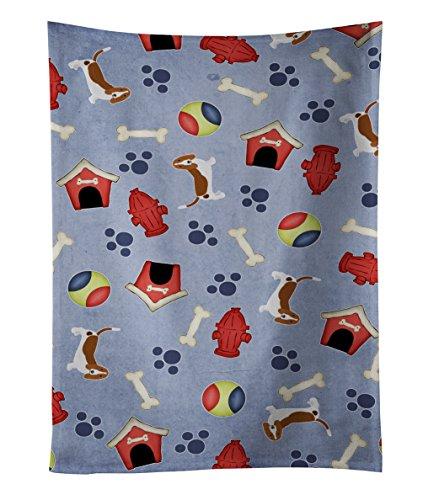 Caroline's Treasures BB4047KTWL Dog House Collection Basset Hound Essuie-Tout en Tissu Multicolore