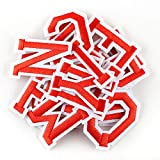 Letter Iron On Patches Sew On Appliques with Ironed Adhesive Red Embroidered Decorative Repair Patches for Shoes Hat Bag Clothing(26PCS Alphabet Letters Set)