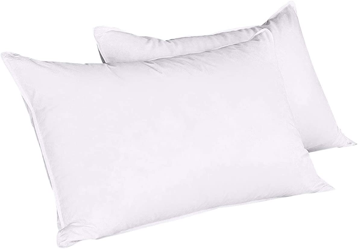 puredown safety Bed Pillows Duck Supportiv Feather Soft New life Down