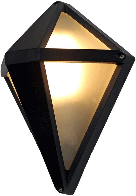 Xiao Yun   Wasserdichte Auenwandleuchte Aluminium Schwarz Einzelkopf Prismatische Auenwandleuchte Lampe Wetterfeste Innenwandleuchten Innen Outdoor