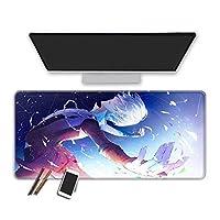 マウスパッド 氷上のゆりアニメマウスパッド滑らかな表面大型ゲーミングマウスパッドオフィスホーム高品質コンピューターアクセサリー耐久性と快適な防水コンピューターキーボードパッド-70X30Cm
