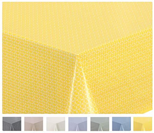 Home Direct Wachstuch Tischdecke Abwaschbar Eckig 140 x 200 cm Gelb