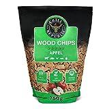 Premium Räucherchips Apfel für optimales Raucharoma beim Grillen | 100% Natürliches Smoker-Holz geeignet für Kugel-, Stand- und Gas-Grill | Extra große 750 g Packung
