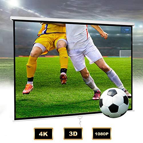 Todeco Telo Per Videoproiezioni, Schermo Di Proiezione, 190 x 190 cm, nero, Materiale: Tessuto in nylon, Spessore: 500 g m²