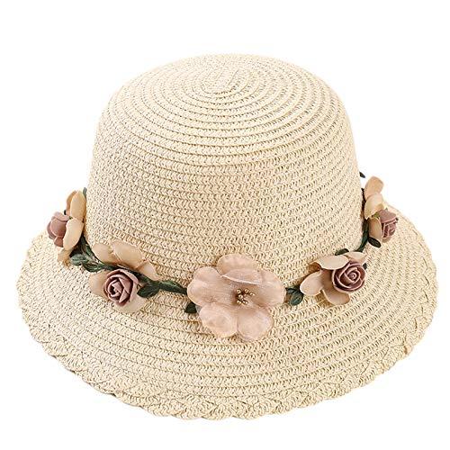 CROW Sombrero de Sol de Verano, Sombrero de Sol, Guirnalda de Damas Claro Sol-Sol Playa, Viaje al Aire Libre, Sombrero de Hierba, Damas Cubrir la Cara del Sombrero de Sol C2