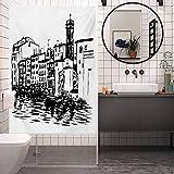 Adhesivo decorativo para ventana con protector solar, diseño de ciudad de Venecia europea, dibujo a...