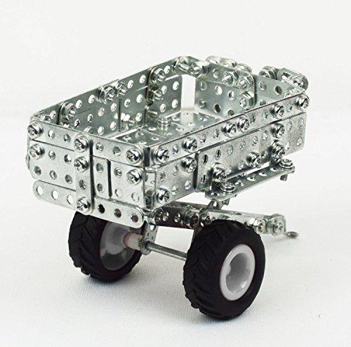 RC Auto kaufen Traktor Bild 5: Tronico 09561 - Metallbaukasten Traktor New Holland T5-115 mit Kippanhänger und Fernsteuerung, Maßstab 1:64, Micro Serie, blau, 454 Teile*